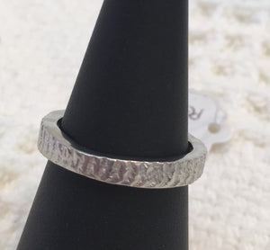 Pewter ring size o