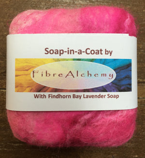 Soap in a felt coat