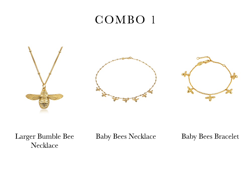 Bumble Bee Necklace, choker and bracelet - Ivy Rose Jewellery inspiration