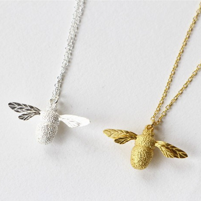 70ebab99f ... Gold and Silver Bumble Bee necklaces ...