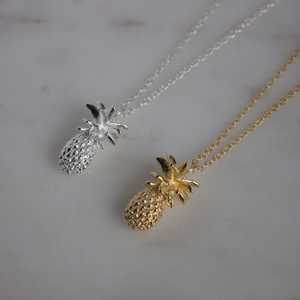 Gold Pineapple Necklace Jewellery Lily Rose London