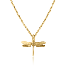 Dragonfly Necklace on Rope Chain