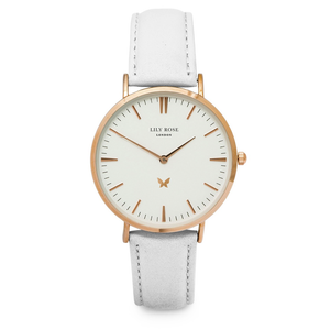 Notting Hill - White face, White Leather strap