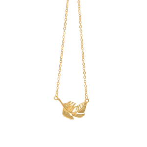 gold feather necklace lily rose london