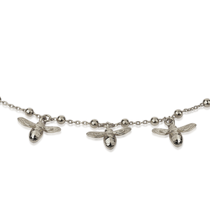 Baby Bees Necklace - Sterling Silver