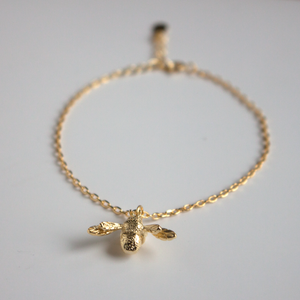 Gold Bumble Bee Bracelet Jewellery Lily Rose London