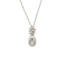 Tropical Sterling Silver Pineapple necklace - lily rose london