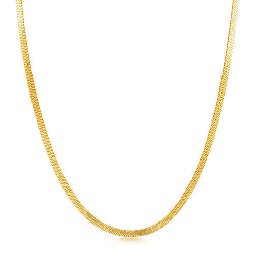 Flat Snake Chain Necklace