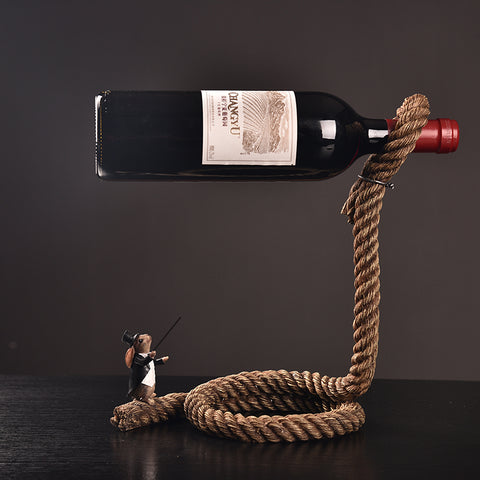 Amazing Magic Suspension Rope Wine Stand