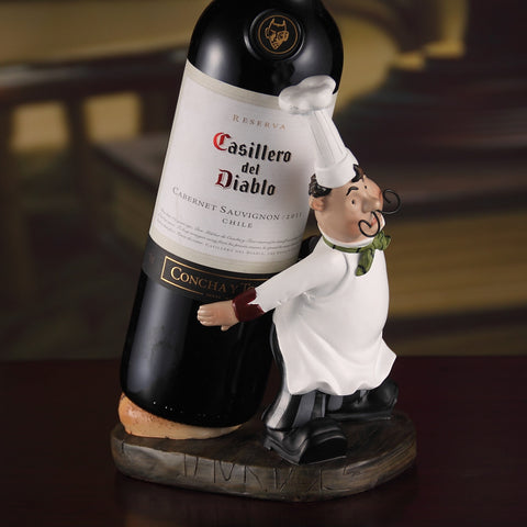 Cute Cook Figurine Wine Rack