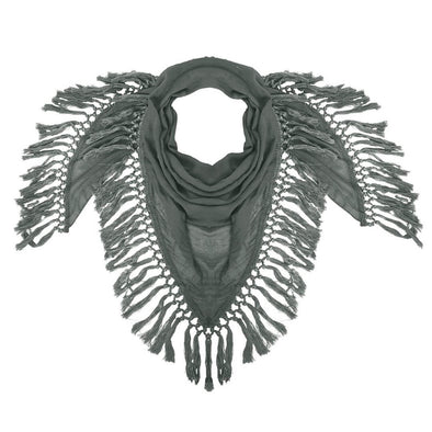 Hunter Fringe Scarf - Olive