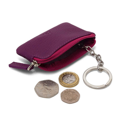 Coin & Key Purse - Matt Purple