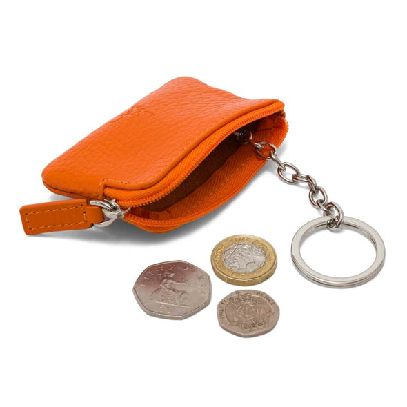 Coin & Key Purse - Orange