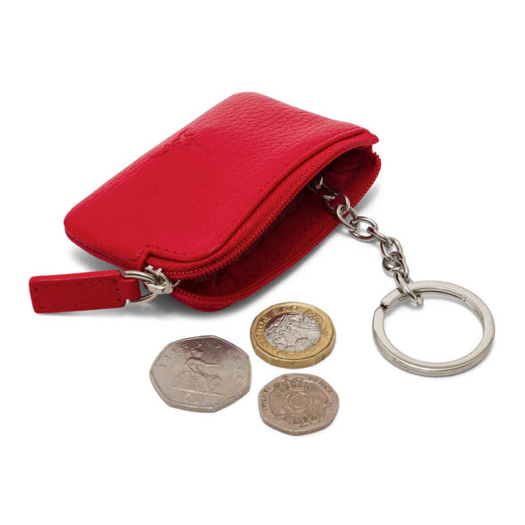 Coin & Key Purse - Red