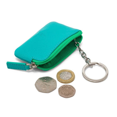 Coin & Key Purse - Turquoise