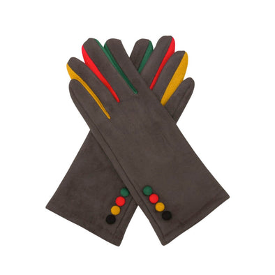 4 Button Gloves - Grey