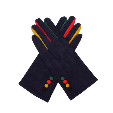 4 Button Gloves - Navy