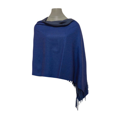 Reversible Pashmina - Dark Blue