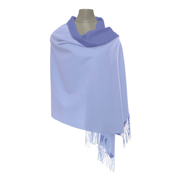 Reversible Pashmina - Light Blue