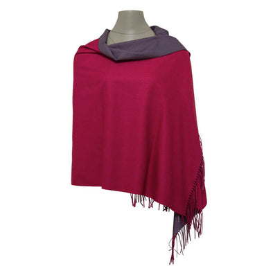 Reversible Pashmina - Raspberry