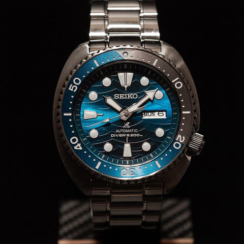 "New Seiko Turtle Prospex ""Save The Ocean"" Great White Shark Diver 200M SRPD21J1"