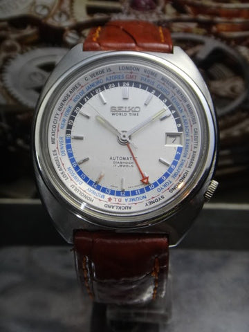Seiko Vintage Worldtime Automatic 6117-6400 Watch