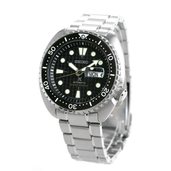 SEIKO PROSPEX TURTLE SRPE03J1 MADE IN JAPAN BLACK WAFFLE DIAL