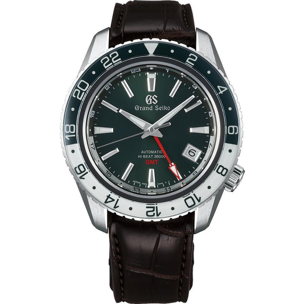 NEW GRAND SEIKO SPORTS COLLECTION SBGJ239 HI-BEAT 36000 GMT GREEN DIAL