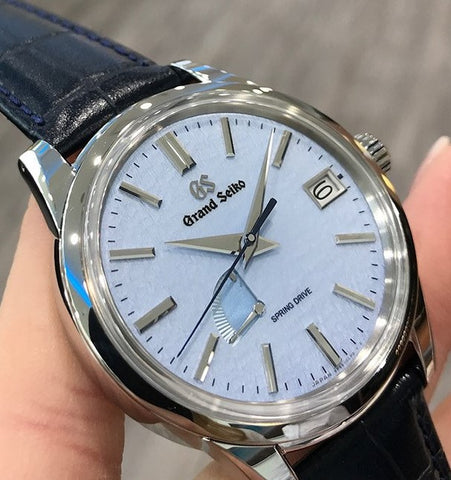Grand Seiko Spring Drive Blue Snowflake Dial SBGA407 Boutique Exclusive