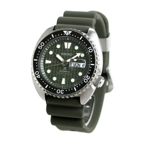 NEW 2020 SEIKO PROSPEX TURTLE SRPE05J1 MADE IN JAPAN MILITARY GREEN WAFFLE DIAL