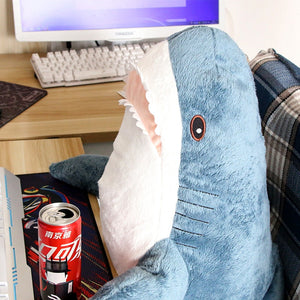 45-140CM Big Size Shark Plush Toy Soft Stuffed speelgoed Animal Reading Pillow for Birthday Gifts Cushion Gift For Children
