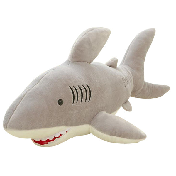 Soft Plush Stuffed Animal Shark Toy Dolls Gray Shark Plush Toys High Quality For Boys Christmas Gift T30