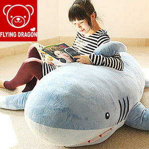 "71""(1.8M) New GIANT HUGE SHARK STUFFED TOY  PILLOW COVER (WITHOUT FILLERS)"