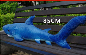 middle size plush shark toy lovely dark blue stuffed undersea world shark doll birthday gift about 85cm