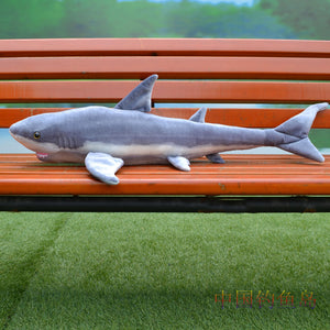 small size plush shark toy simulation gray shark stuffed doll birthday gift about 100cm