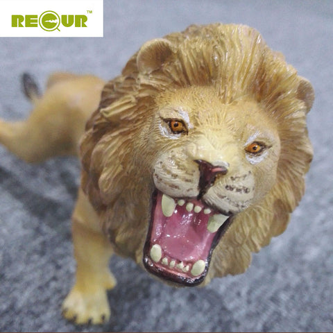 Recur Hot Sale High Quality Lion Simulation Model Hand Painted Soft PVC Action Figures Wild Animal Toy Collection Gift For Boys