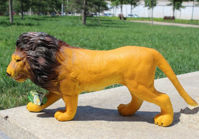 50cm Soft Wild Animals Lions Solid PVC Model Learning Educational Action Figure Toys Classic Animal Model Toy Kids Birthday Gift