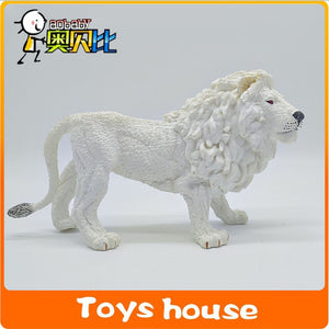 25cm Big size white lion plastic animal toys  PVC Model Action Figure Toys African Simulation Animal Children's gift wild animal