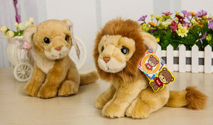 Free Shipping 18CM Cute Lion Plush Toys Lioness Plush Dolls Simulation Stuffed Animal Toys For Kids Christmas & Birthday Gifts