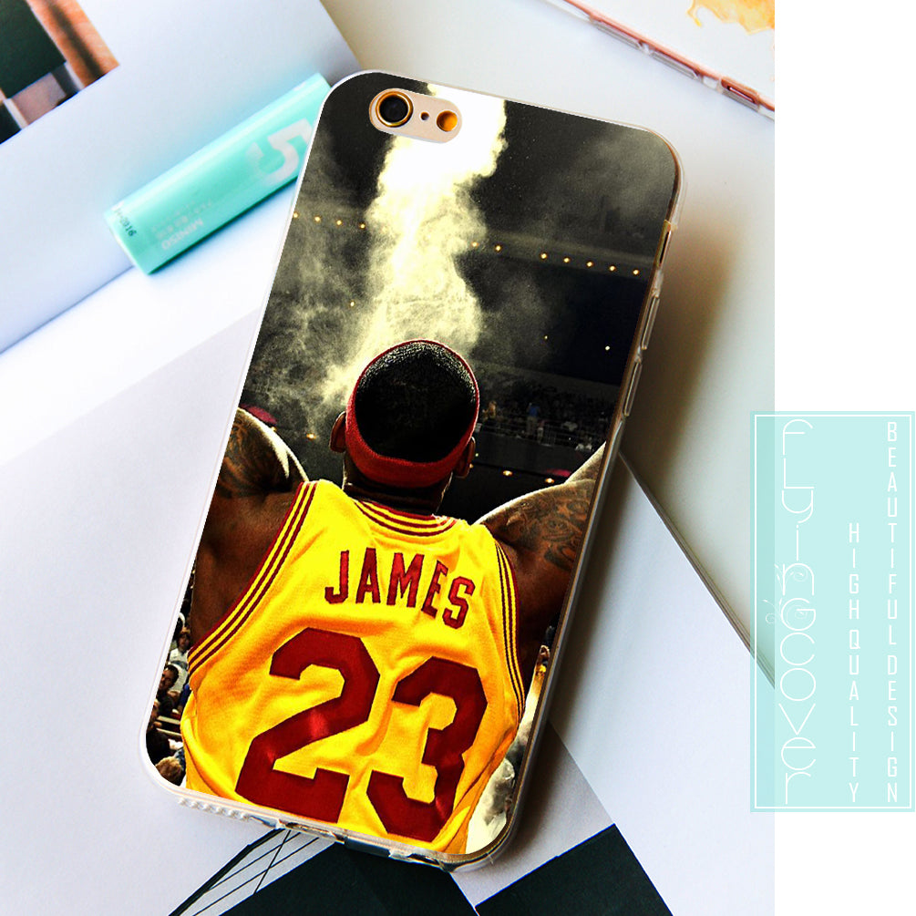 new product 7fe76 5642b LeBron James NBA Phone Cover for iPhone X 7 8 Plus 5S 5 SE 6 6S Plus 5C 4S  4 iPod Touch 6 5 Cases