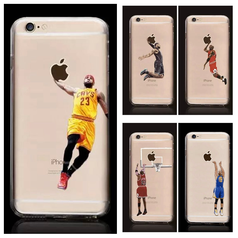 huge selection of 8fada 54ae4 NBA Basketball Player Soft TPU Silicone Case For iPhone 7, 7 Plus, 8, 8 Plus