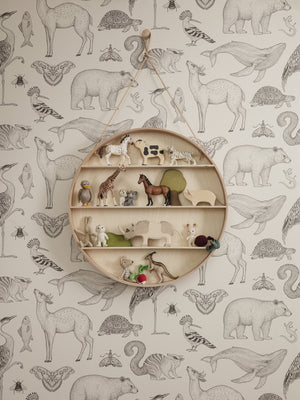 Tapeta FERM LIVING Katie Scott Animals - Off White