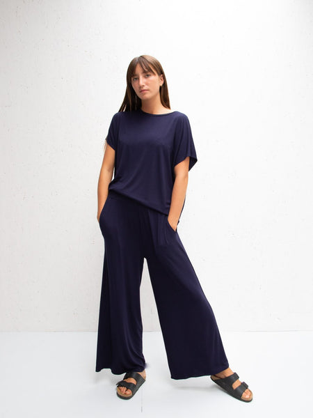 Chalk Luna Pants | Drape Jersey Black or Navy