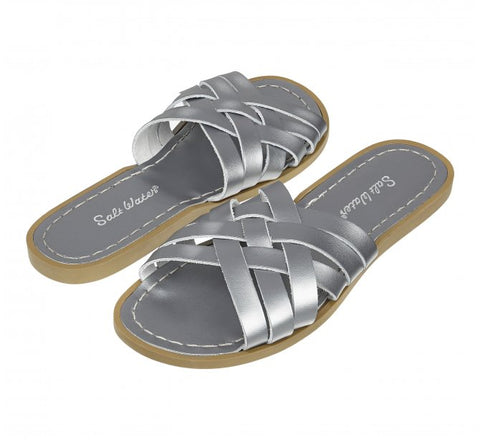Saltwater Retro Slide Sandals Pewter