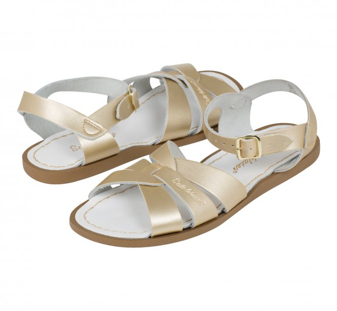 Saltwater Original Sandals Gold