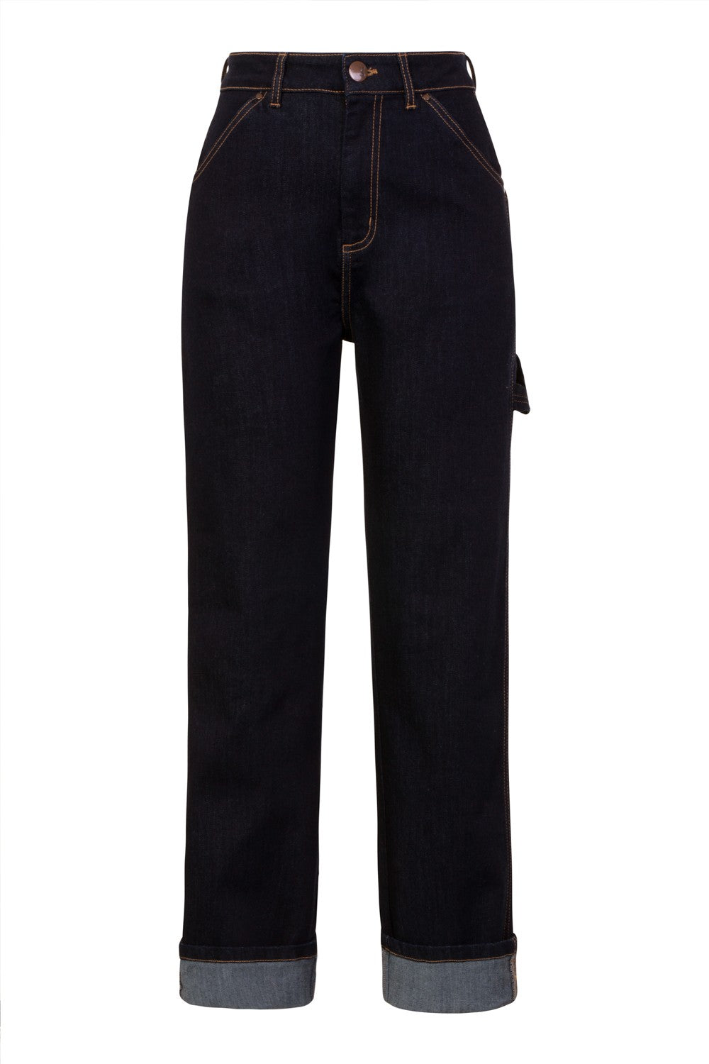 Hell Bunny Carpenter Denim Trousers