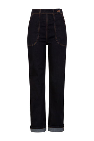Hell Bunny Western Denim Trousers