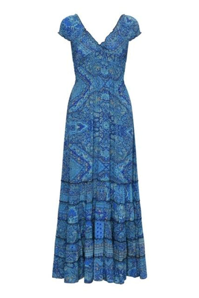 Gabrielle Parker Silk Gypsy Dress -  Moroccan Blue