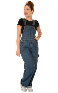 Mid Denim Dungarees by Run & Fly