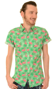 Run & Fly Flamingo Print Shirt by Run & Fly